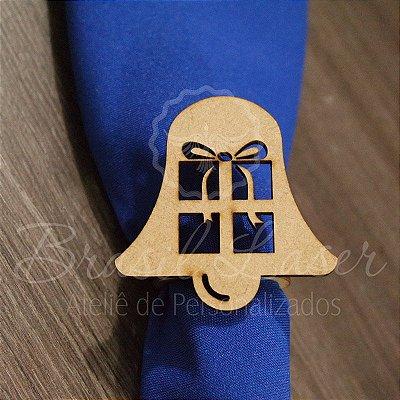 1 Porta Guardanapo em Mdf Natal Sino Presente (Pintado e Sem Pintura) - #Quant.Mínima: 10 unidades iguais# PGV 01071A