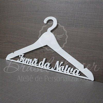 Cabide Personalizado com os Nome(s) dos Noivos ou Debutante ou Palavras que desejar - CAV 01026A