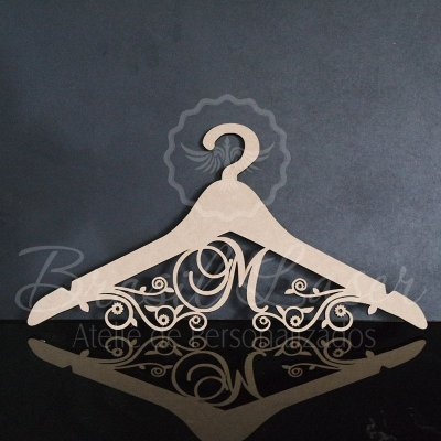 Cabide Personalizado com as Inicial(is) dos Noivos ou Debutante XV 15 Anos - CAV 01042A