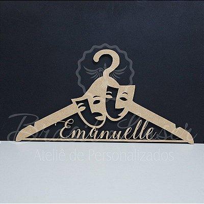 Cabide Personalizado Máscara com os Nome(s) dos Noivos ou Debutante XV 15 Anos - CAV 01043A