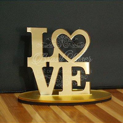 Topo de Bolo LOVE Amor - TBV 01142A