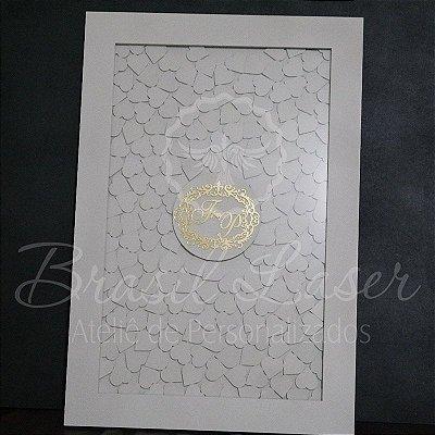 Quadro de Assinaturas Pintado com Brasão com Acrílico Espelhado Personalizado - QAB 00110B