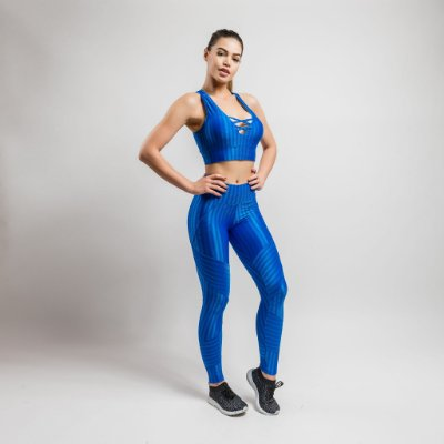 LEGGING NEW VISION+TOP FITS- AZUL ROYAL