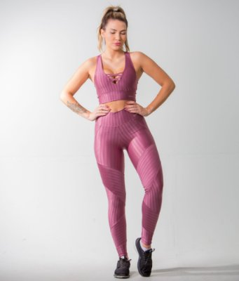 LEGGING NEW VISION+TOP FITS- ROSE