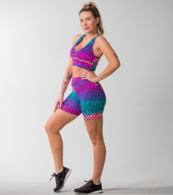 SHORTS POWER + TOP FITS - PRINT:04
