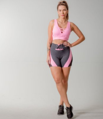 SHORTS POWERFUL+TOP FITS - OXY/ROSA