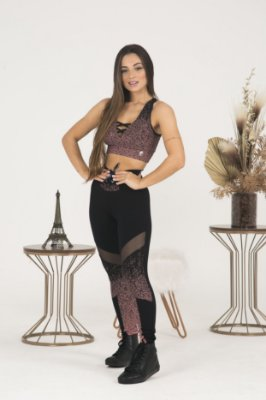 LEGGING POWERFUL+TOP JACQUARD