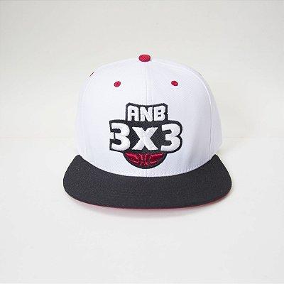 Boné ANB3X3 Snapback Branco/Preto