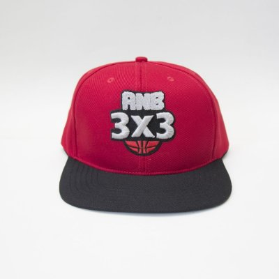 Boné ANB3X3 Snapback vermelho/Preto