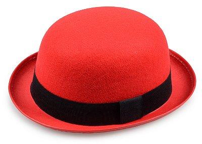 Chapéu Coco Vermelho