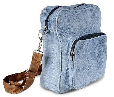 Bolsa Jeans Azul Claro Mesclado