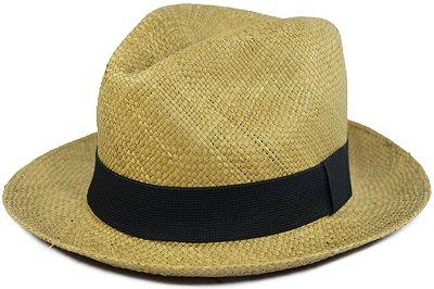 Chapéu Panamá Colorido Caramelo Aba Média Faixa Preta