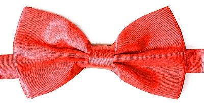 Gravata Borboleta Vermelha Lisa