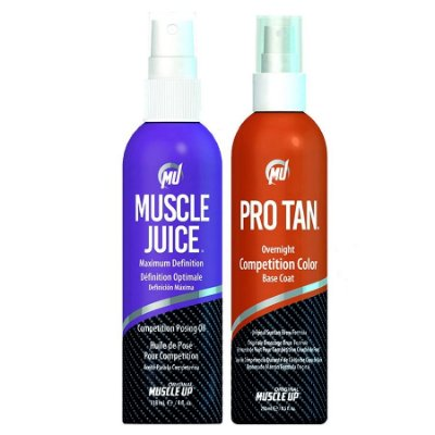 1 Pro Tan Competition Color 8.5oz (250ml) + 1 Muscle Juice - Óleo de Máxima Definição 118ml