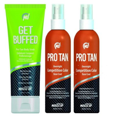 2 Pro Tan Competition Color + 1 Get Buffed Creme Depilador da Pele
