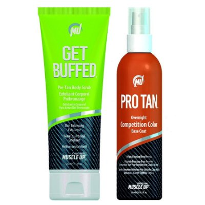 Pro Tan Competition Color 8.5oz (250ml) + Get Buffed Creme Depilador da Pele