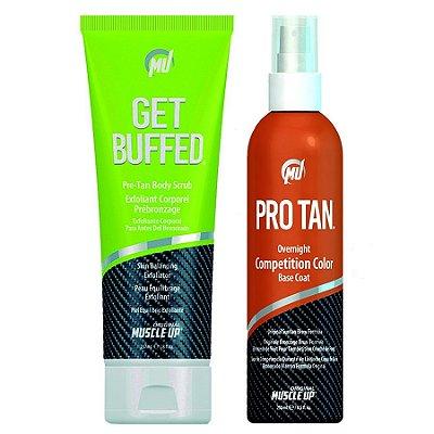 Pro Tan Competition Color 8.5oz (250ml) + Get Buffed Creme Depilador da Pele