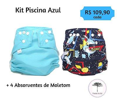 kit Piscina Azul