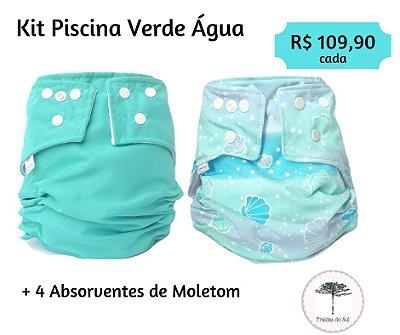 Kit Piscina Verde Água