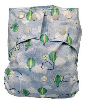 Presente para o Aruã - Fralda Ecológica em PUL Balões