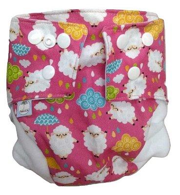 Fralda Ecológica - Ovelhas rosa