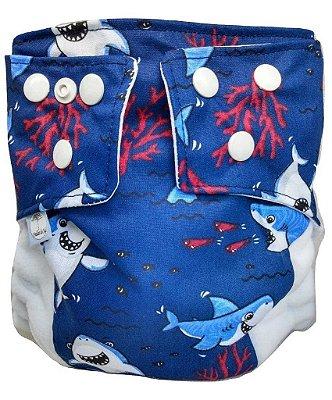 Presente para Helô - Fralda Ecológica Tubarão