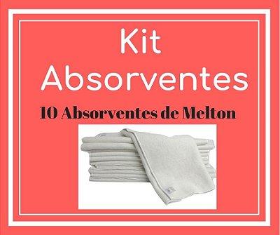 Presente para Helô - Kit Absorventes de Melton | 10 unidades