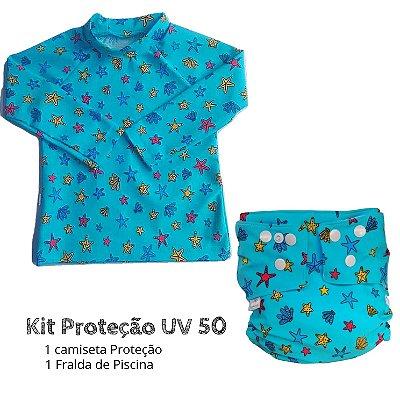 DUPLICADO - Kit Proteção boias azul UV 50 +