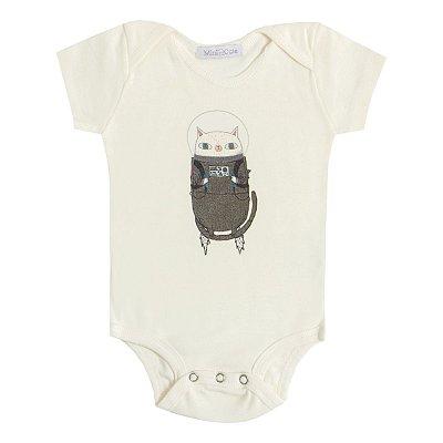Body Baby Gatinho Astronauta