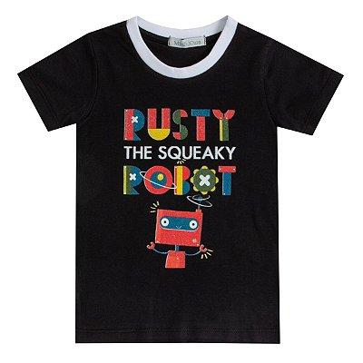 Camiseta infantil estampada Robô