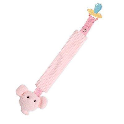 Porta Chupeta elefante minicute rosa