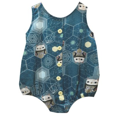 Body bebe botões astronauta