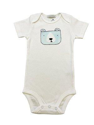 Body infantil urso bordado