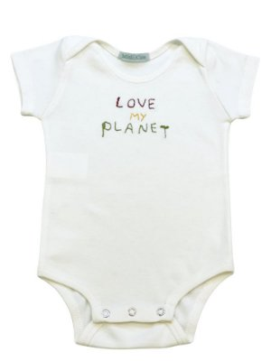 Body infantil bordado love planet