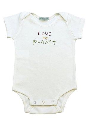 Body infantil bordado love planet