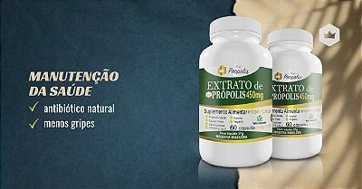 Combo 3un. Extrato de Própolis Verde - 60 Cápsulas 450mg - 7RP450C