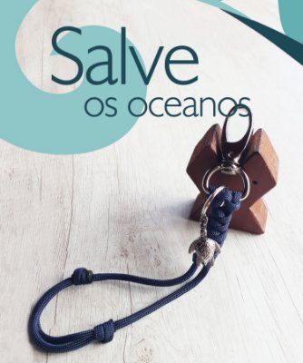 Mini-Lanyard com tartaruga-marinha #salveosoceanos