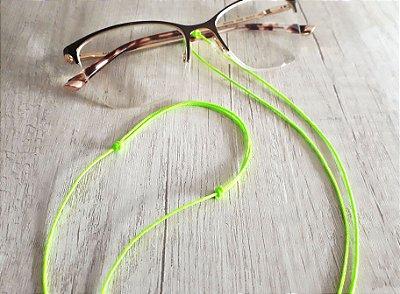 Cordinha para óculos, ajustável (cores vibrantes) - feita com microcord