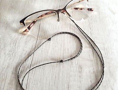 Cordinha para óculos, ajustável (cores) - feita com microcord