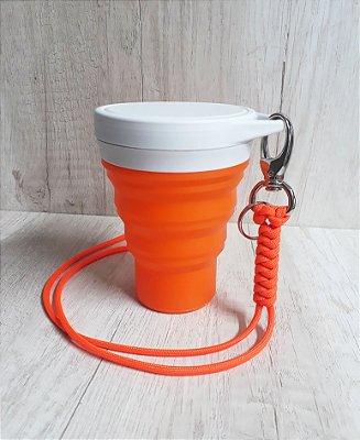 KIT União / laranja | Copo Menos1Lixo + Lanyard