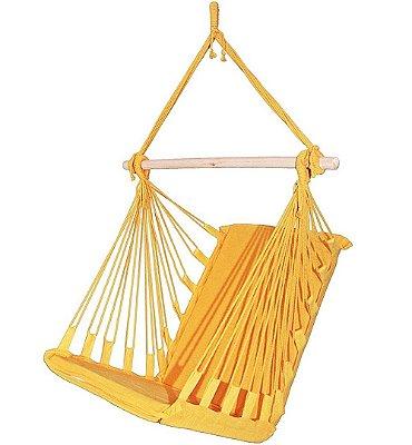 Cadeira Rede Balanço Suspensa Amarela