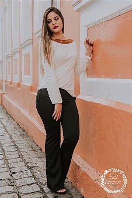 Calça Mini Flare - com bolso