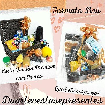Cesta Café da Manhã com Frutas Premium