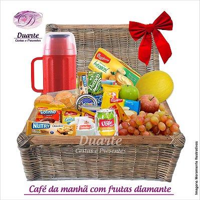 Cesta Café da Manhã com Frutas Diamante