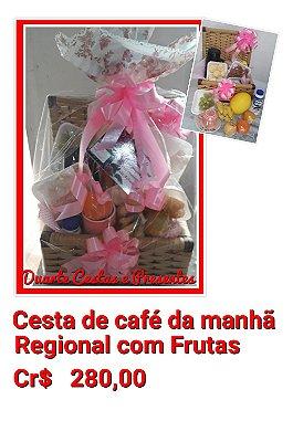 Cesta de café da manhã Regional com Frutas