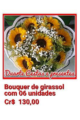 Bouquer de Girassol  com 06 unidades