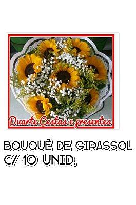 Bouquer de Girassol com 10 unidades