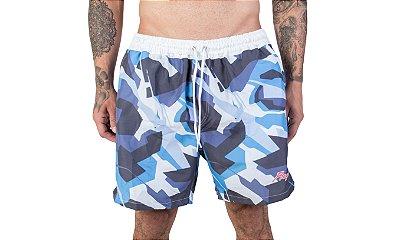 Shorts Blue Camouflage