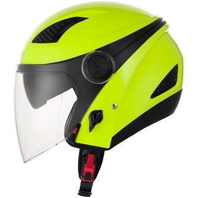 Capacete Moto Zeus 610 NEW CITY FLUOR YELLOW amarelo Aberto