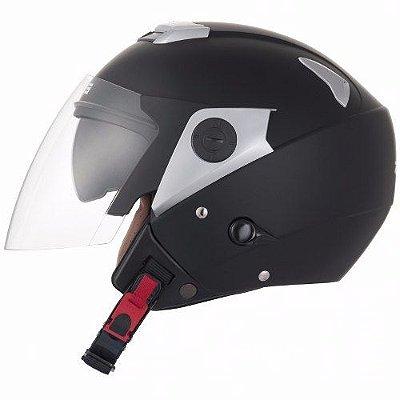 Capacete Moto Zeus 202FD PREMIUM MATT BLACK Preto Aberto